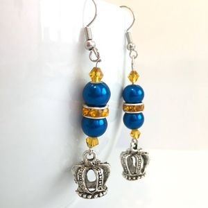 Kansas City Royals Baseball Earrings